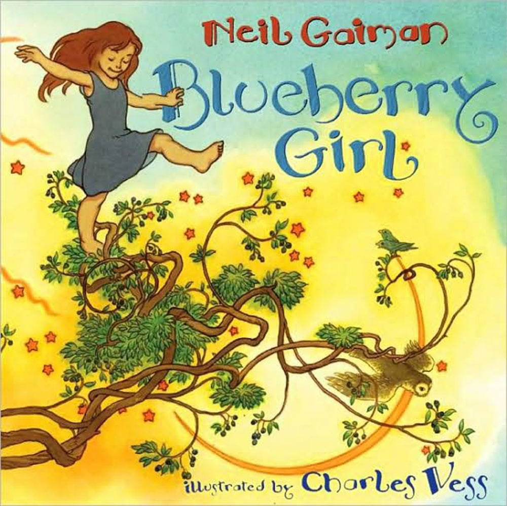 Cover image from Blueberry Girl by Neil Gaiman, illustrated by Charles Vess.