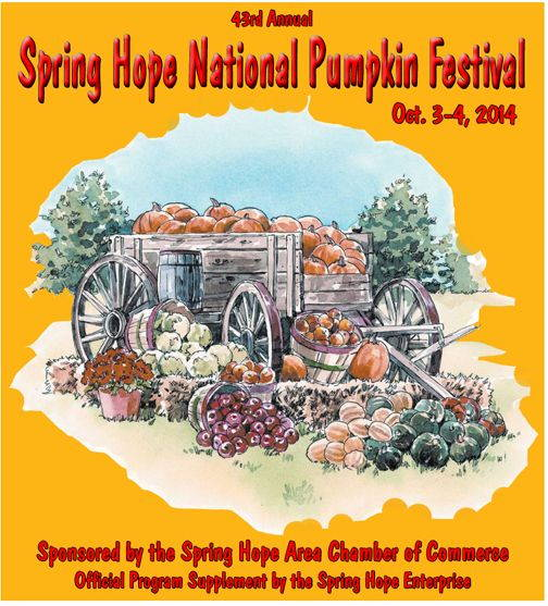 """Spring Hope National Pumpkin Festival 2014"" advertisement in local newspaper."