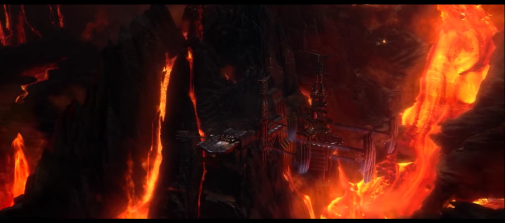 "Mining the waste-planet of Mustafar. <a href=""https://www.youtube.com/watch?v=vYcUq4g6rGs"" target=""_blank"">Screenshot</a>."