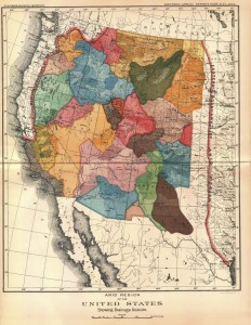 "John Wesley Powell proposed a division of the American West into watersheds. From the <em>Eleventh Annual Report of the U.S. Geological Survey</em> (1878); digitized by <a href=""http://www.aqueousadvisors.com/blog/regions/federal/powells-map-of-the-west/"" target=""_blank"">Matthew Frank</a>."