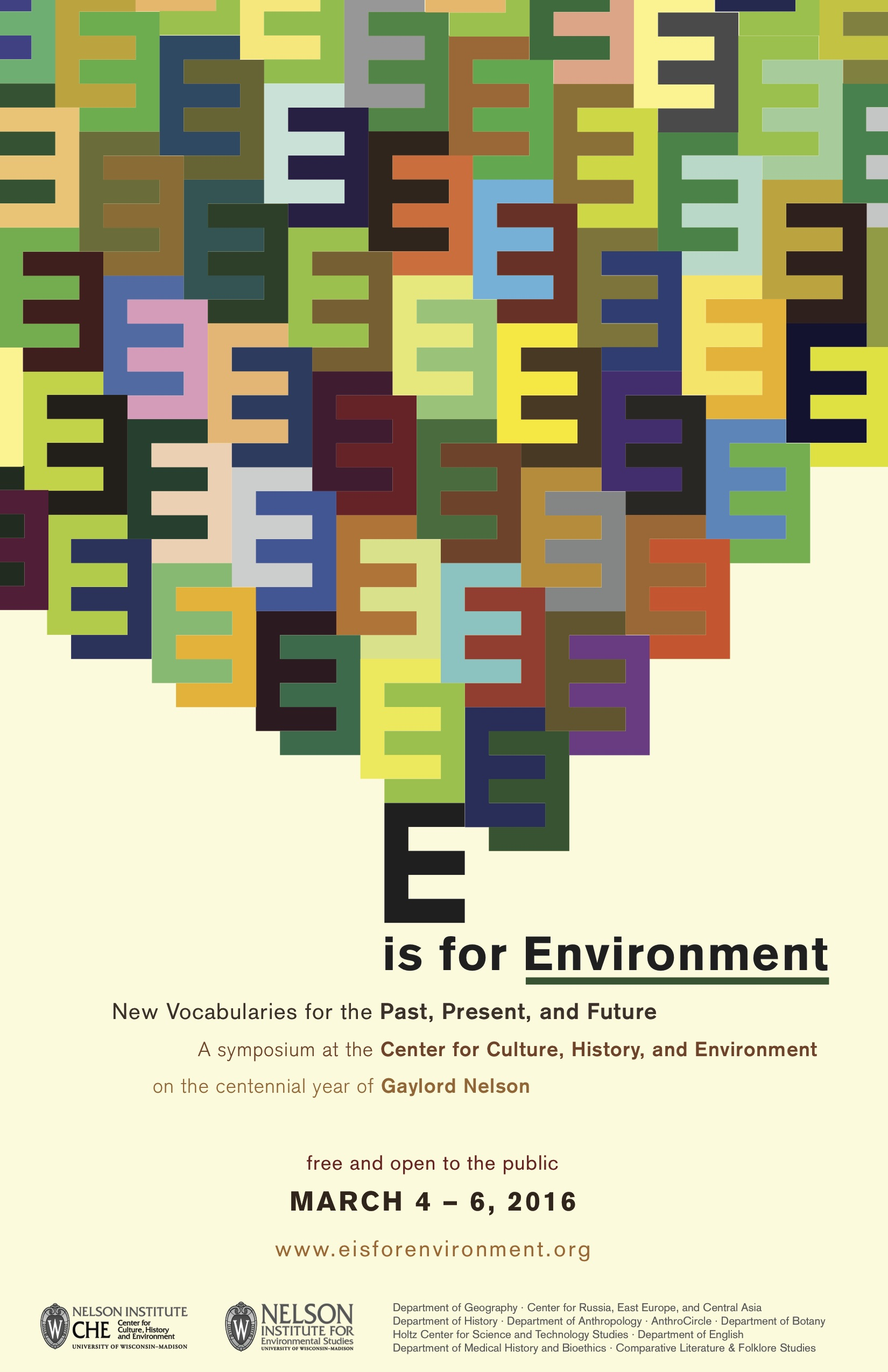 Poster design for symposium - E Is For Environment Poster