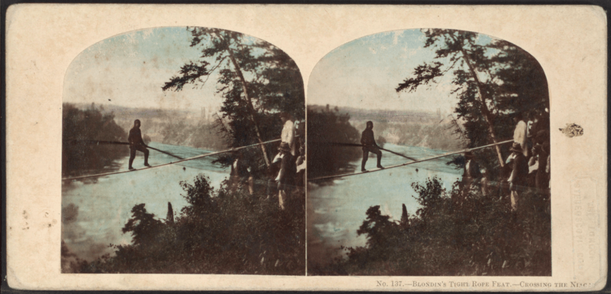 Blondin's Tight Rope Feat: Crossing the Niagara.
