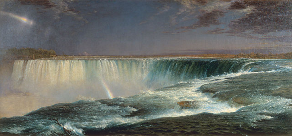 Niagara, Frederic Edwin Church, 1857, oil on canvas. Wikimedia Commons, PD-US.