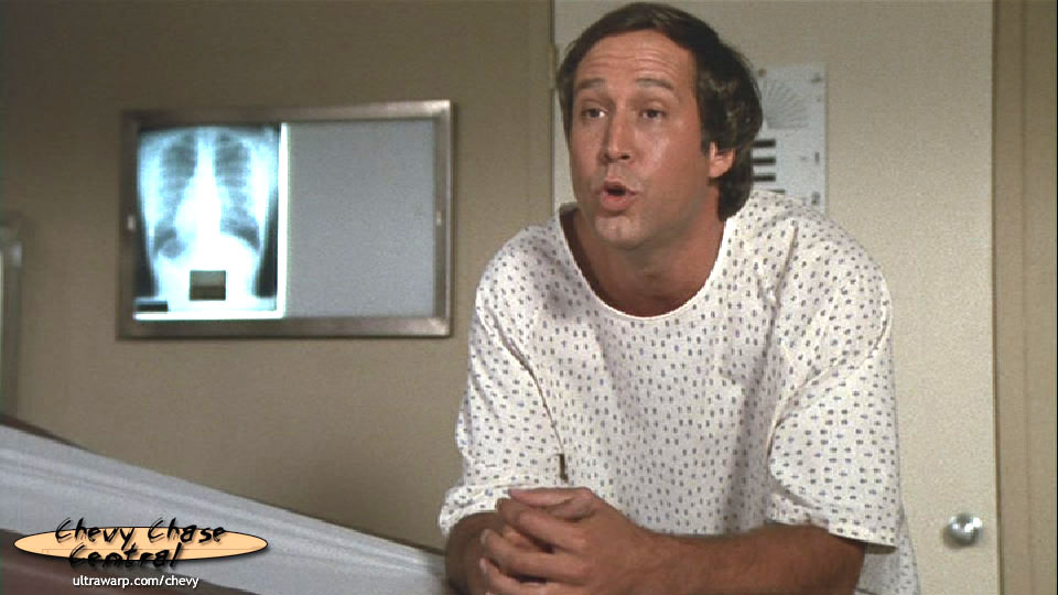 """Sure, but, the end was really, very sudden."" Screenshot from the film Fletch."
