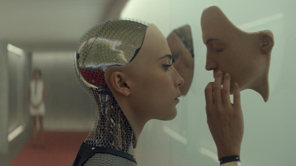 Film still from <em> Ex Machina</em>, directed by Alex Garland.