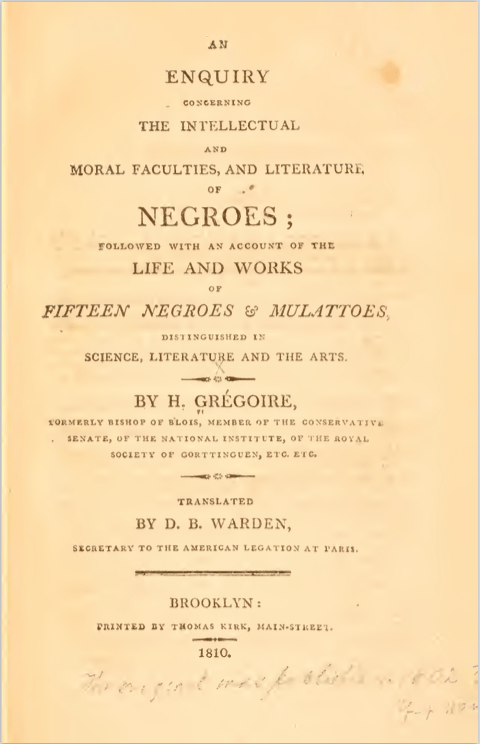 Henri Grégoire, 1810. Archive.org.