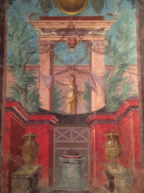 Fresco from a villa at Boscoreale, ca. 50-40 BCE. Metropolitan Museum of Art (03.14.13a–g). Photo by the author.