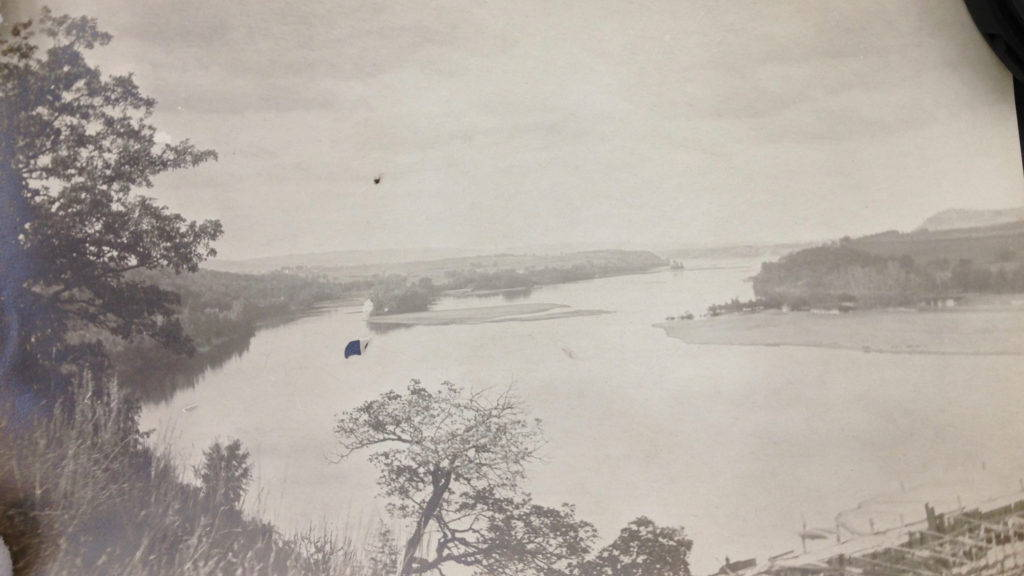 Wisconsin River upstream of dam, 1911. Photo: Frank Eberhart, Courtesy of the Wisconsin Historical Society.