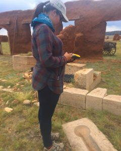 The author surveys the cultural landscape of Fort Union National Monument. Photo by Bryn Davis.
