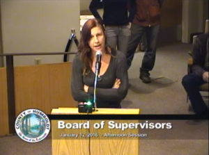 "A cannabis grower petitions the County of Humboldt Board of Supervisors during public comment on coastal zoning regulations, January 12, 2016. Screenshot from Humboldt County <a href=""http://humboldt.granicus.com/MediaPlayer.php?view_id=5&clip_id=1007"" target=""_blank"">meeting video</a>."