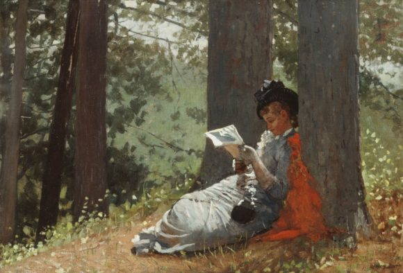 Girl Reading Under an Oak Tree, 1879 (oil on canvas)