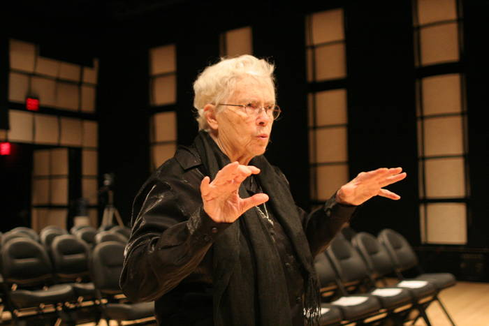 Pauline Oliveros, 2016. Photo by kind permission of Ellie Markovitch.