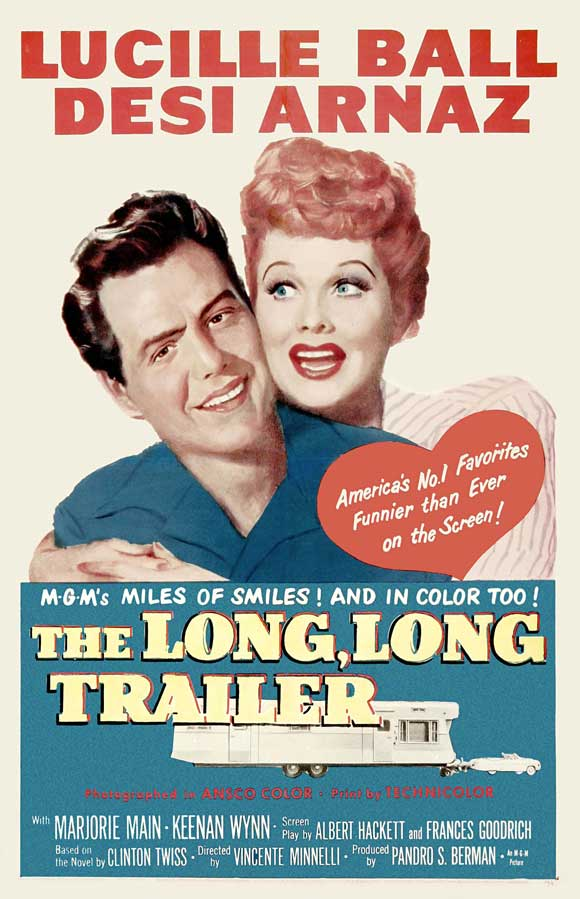 Promotional ad for The Long, Long Trailer directed by Vincente Minnelli (MGM, 1954).