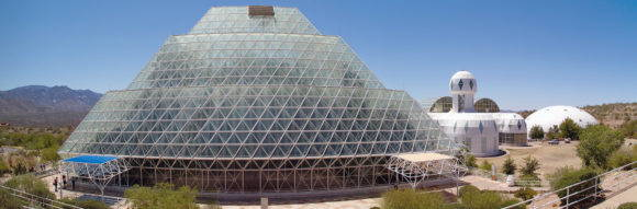 The Biosphere 2 rainforest biome and habitat. Photo by Justin Frisch, 2011.