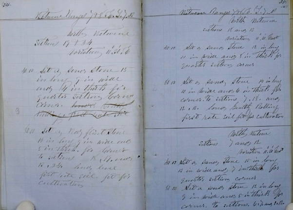 Field notes of U.S. surveyor Jonathan P. Jones from June 6, 1857.