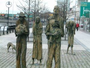Famine memorial in Dublin, Ireland. Photo from Wikimedia Commons.