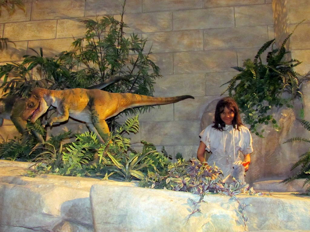 "Diorama at the Creation Museum. Answers in Genesis argues that the extinction of animal species including dinosaurs has taken place alongside recent human history. Photo by David Berkowitz via <a href=""https://www.flickr.com/photos/davidberkowitz/6009861293/in/photostream/"" target=""_blank"">Flickr</a>."