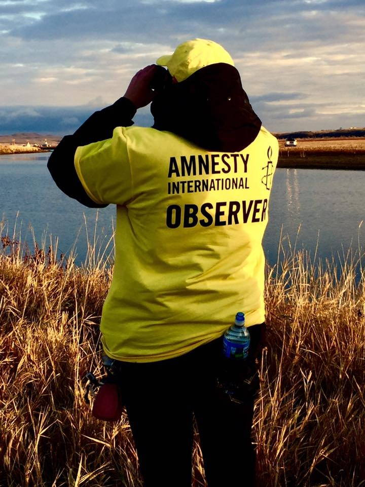 An observer from Amnesty International. Photo by Gary Kmiecik, November 2016.