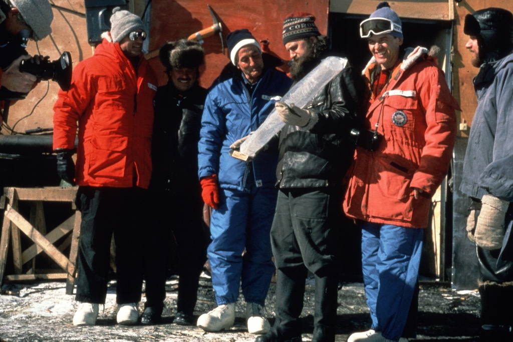Jacquet's film uses clips of fantastically restored expedition footage from Lorius's past journeys to Antarctica. Image courtesy of Eskwad-Wild Touch-CNRS.