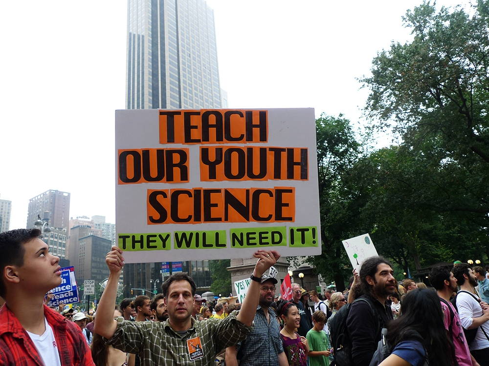 A scene from the People's Climate March in New York City, September 21, 2014. Photo by Susan Melkisethian.