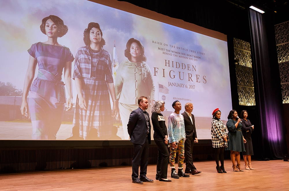"""The screening of the film """"Hidden Figures"""" (20th Century Fox, 2016) at the Smithsonian National Museum of African American History and Culture. Photo by Joel Kowsky/NASA, December 2016."""