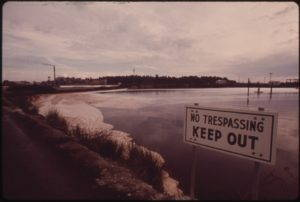 Wastewater treatment lagoons at Weyerhaeuser and St. Regis pulp mills. Wiki commons
