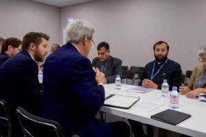 U.S. Secretary of State, John Kerry and his team meet with India's Environment Minister Prakash Javadekar at COP21 in Paris. U.S. Department of State, 2015.