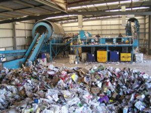 A contemporary recycling center. (source wikimedia commons)