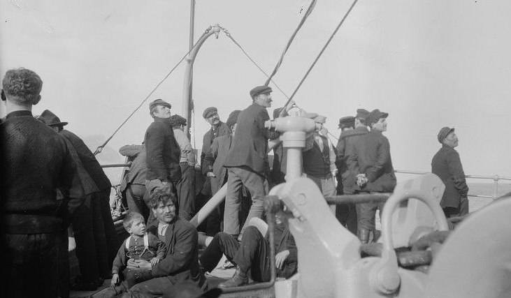 Steerage passengers on ships like this one raced against time and each other to be admitted to the United States under the new immigration quotas. Wikimedia Commons.