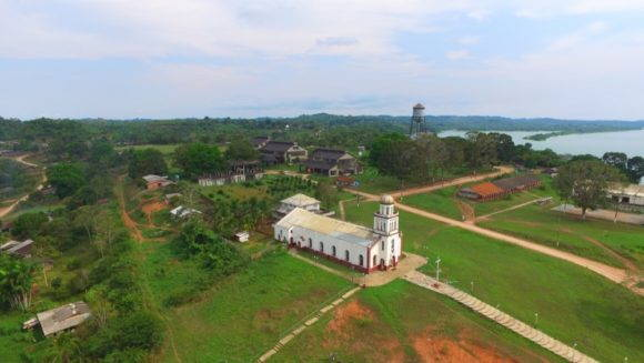 An aerial view of Fordlandia
