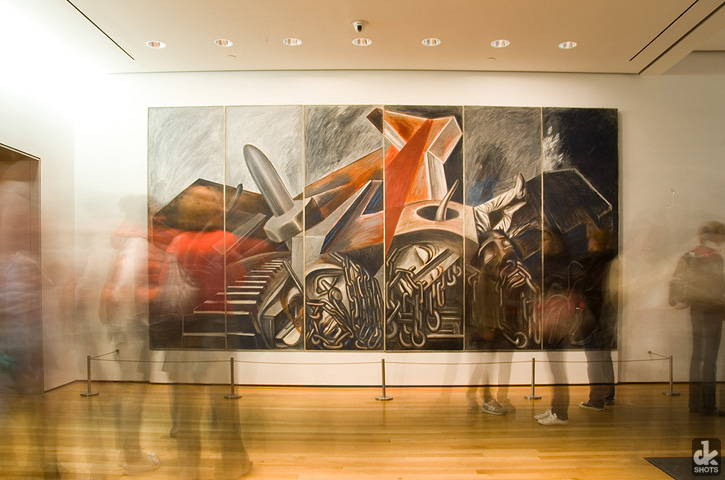 A fresco by Jose Clemente Orozco installed at the Museum of Modern Art in 1940.